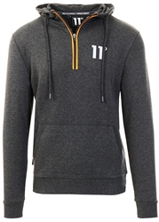 11degrees Anthracite Marl Quarter Zip Hoodie