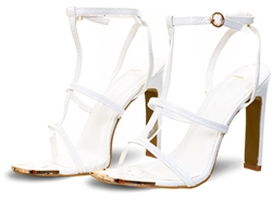 No Doubt White Ankle Strap Open Toe Shoe