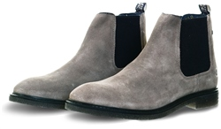 Base London Grey Suede Chelsea Boot