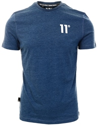 11degrees Navy Marl Core T-Shirt