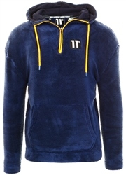 11degrees Navy Borg Hoodie