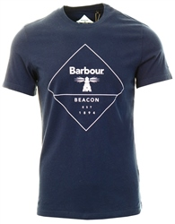 Barbour Beacon Navy Outline T-Shirt
