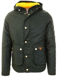 Barbour Beacon Sage Hooded Reelin Waxed Cotton Jacket