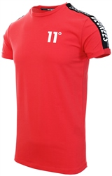 11degrees Hot Red Taped Muscle Fit T-Shirt