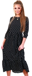 Urban Bliss Black Polka Dot Midi Dress