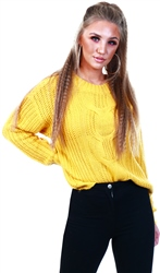 Veromoda Amber Gold / Yellow Knitted Pullover