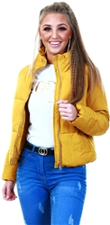 Jdy Yellow / Harvest Gold Short Quilted Jacket