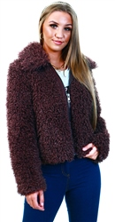 Only Brown / Bitter Chocolate Faux Fur Jacket