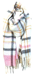 Pieces Zephyr / White Knitted Long Scarf