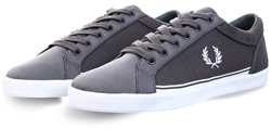 Fred Perry Grey Baseline Pique Shoe