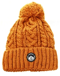 Superdry Yellow Gracie Cable Beanie