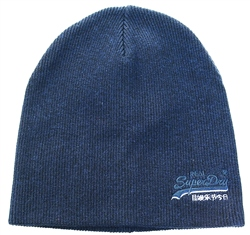 Superdry Downhill Navy/Black Grit Orange Label Beanie