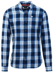 Superdry Blue Check Workwear Long Sleeved Shirt