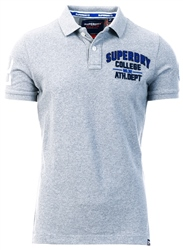 Superdry Jasper Grey Grit Superstate Shadow Polo Shirt