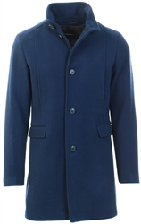 Selected Navy Wool - Coat