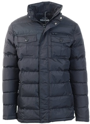 Threadbare Black Padded Coat