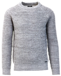 Threadbare Grey Cable Knit Sweater