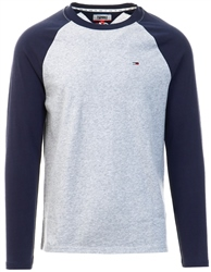 Hilfiger Denim Black Contrast Raglan Long Sleeve T-Shirt