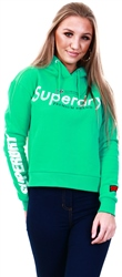 Superdry Retro Green Nineties Crop Hoodie
