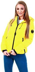 Superdry Bright Yellow Spirit Puffer Icon Jacket