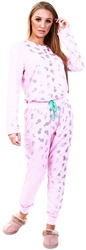 Chelsea Peers Pink Pink Foil Pineapple Long Pj Set