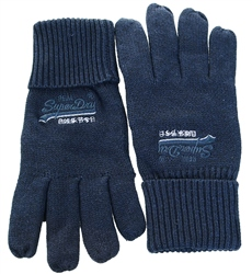 Superdry Navy Grit Orange Label Gloves