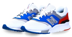 New Balance White / Royal Blue / Velocity Red 997h Suede Trainer