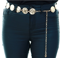 Impulse Gold Circle Chain Belt