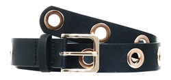 Pieces Black Eyelet Belt