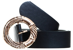 Impulse Black Gold Buckle Belt