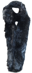 Impulse Black Faux Fur Scarf