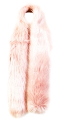 Impulse Pink Faux Fur Scarf