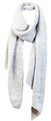 Pieces Moonbeam / Grey Pyron Wool Knit Long Scarf