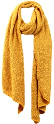 Pieces Gold Pyron Wool Knit Long Scarf