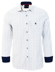 Alex & Turner White Floral Pattern Shirt