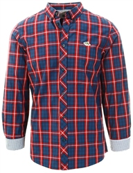 Le Shark Tawny Port Halton Checked Cotton Long Sleeve Shirt
