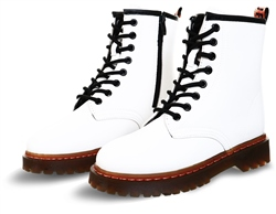 No Doubt White Lace Up Boot