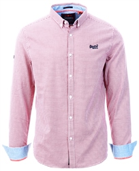 Superdry Red Square Check Premium Button Down Shirt