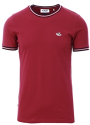 Le Shark Red Oldershaw Cotton Jersey T-Shirt With Racer Stripe