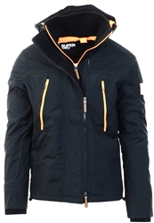 Superdry Black/Orange Hooded Polar Sd-Windattacker Jacket