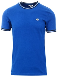 Le Shark Blue Oldershaw Cotton Jersey T-Shirt With Racer Stripe