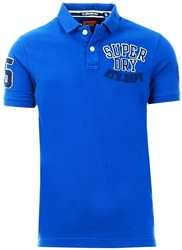 Superdry Dire Cobalt Oldskool Superstate Pique Polo Shirt