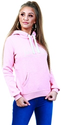 Jack Wills Pink Hunston Embroidered Graphic Hoodie