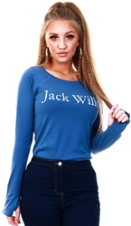 Jack Wills Deep Blue Holstone Long Sleeve T-Shirt