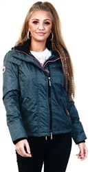 Superdry Herringbone / Pink Arctic Hooded Pop Zip Sd-Windcheater Jacket