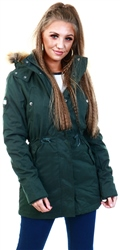 Superdry Ivy Green Model Microfibre Jacket
