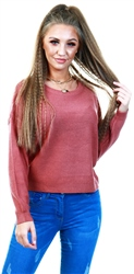 Brave Soul Rose Scoop Neck Jumper