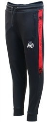 Kings Will Dream Black/Red Junior Swarthmore Poly Jog Pant