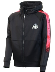 Kings Will Dream Black/Red Junior Swarthmore Poly Full Zip Hooded Top