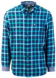 Jack Wills Teal Sydling Flannel Check Long Sleeve Shirt